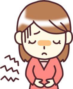 生理痛の女子