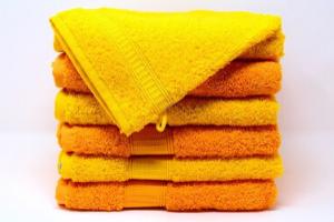 黄色いタオル